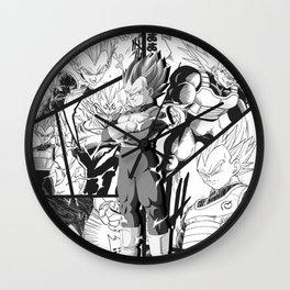 Vegeta manga version collage dragon ball super Wall Clock