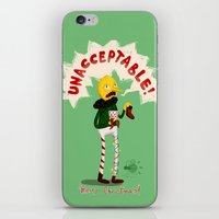 lemongrab iPhone & iPod Skins featuring UNACCEPTABLE by Vagalumie
