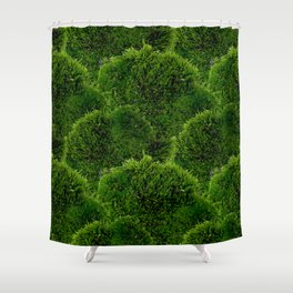 Moss - Green Luscious Mossy Texture - Full on Natural Moss Mounds- Earthy Greens -Turning Moss Green Shower Curtain