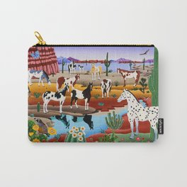 Painted Horses Carry-All Pouch
