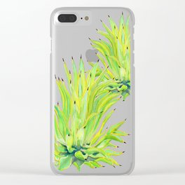 Sunlit Octopus Agave Clear iPhone Case