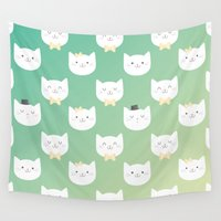 kitten Wall Tapestries featuring Kitten by Milli-Jane