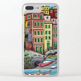Colours of Riomaggiore Clear iPhone Case