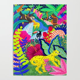 Jungle Party Animals Poster