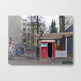 Old photo booth in Berlin Metal Print