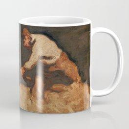 Albin Egger-Lienz - Reapers in a Gathering Storm (1912) Coffee Mug