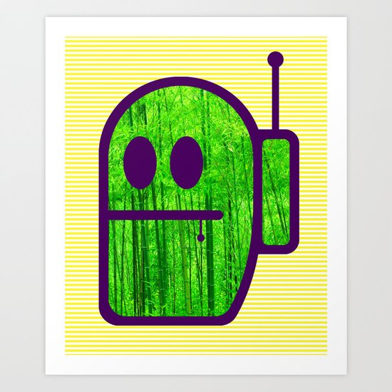 Grubbo On Bamboo Patrol. Art Print