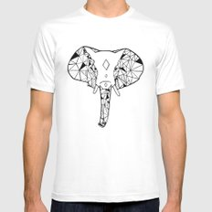 Elephant MEDIUM Mens Fitted Tee White