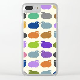 Colorful cartoon sheep pattern Clear iPhone Case