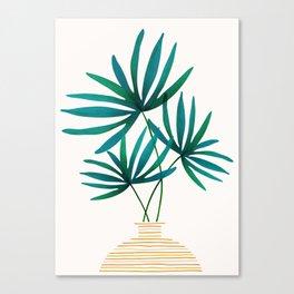 Tropical Palm Bouquet Canvas Print