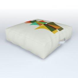 Whimsical bromeliad Outdoor Floor Cushion