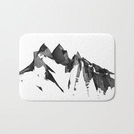 Mountain Painting | Landscape | Black and White Minimalism | By Magda Opoka Bath Mat