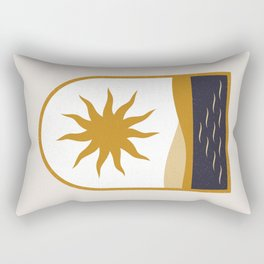 Ancient Window Other Dimensions The Black Nile Sun Over Egypt Rectangular Pillow