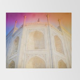 Morning Light at Taj Mahal Throw Blanket