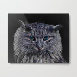Catowl Metal Print