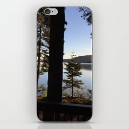 Lake Tahoe cabin view iPhone Skin