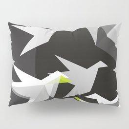 Black and White Paper Cranes Pillow Sham