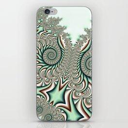 Owl Fractal Chocolate Mint iPhone Skin