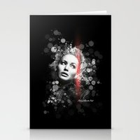 jennifer lawrence Stationery Cards featuring Jennifer Lawrence III by Rene Alberto
