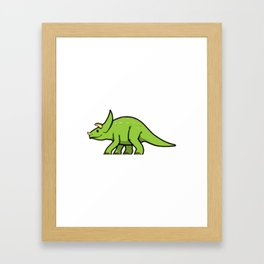 DinoKids Tritops - Green Framed Art Print