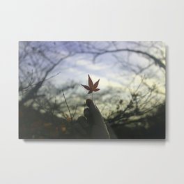 Kyoto Maple Metal Print