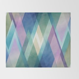 Abstract diamond crystals Throw Blanket