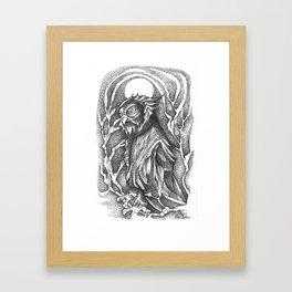 Hawk Owl Framed Art Print