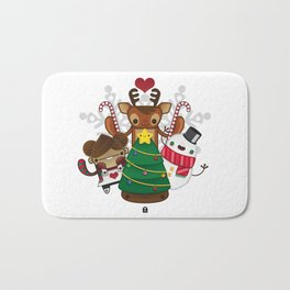 Merry Christmas Chestnut Girl!!! Bath Mat