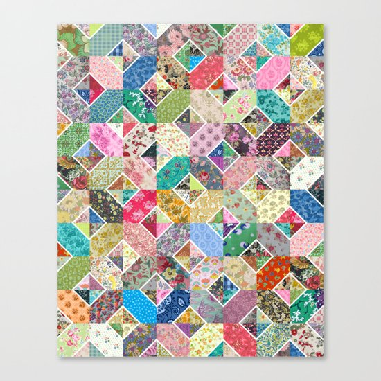 Betty's Diamond Quilt Canvas Print