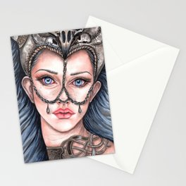 Viking Warrior Princess Fantasy Art Skull Crown Laurie Leigh Stationery Cards