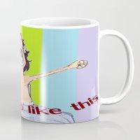i woke up like this Mugs featuring I WOKE UP LIKE THIS by aztosaha