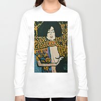klimt Long Sleeve T-shirts featuring Judith - Ode to Klimt  by LadyJennD