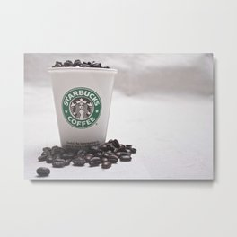 Starbucks Coffee Beans Metal Print