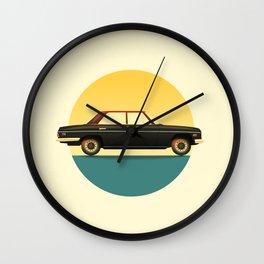 Mercedes 200 at Sunset Wall Clock