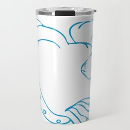 Labrador Eyes Popping Off Drawing Travel Mug