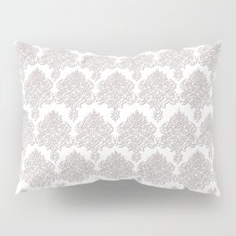 Off-White Damask Chenille with Lace Edge Pillow Sham