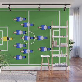 Football Soccer sports team in blue Wall Mural