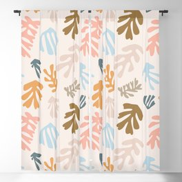 Seaweeds and sand Blackout Curtain