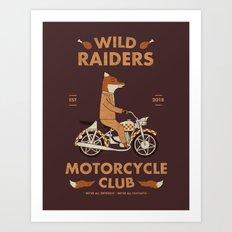 Wild Raiders Art Print