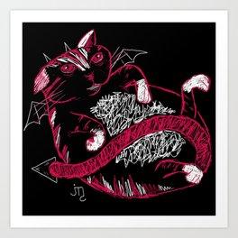 Fat Cat (Devil) Art Print
