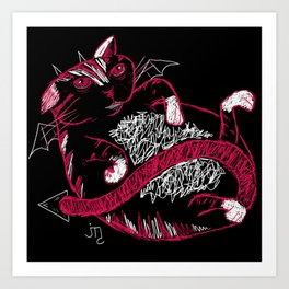 Fat Cat (Devil) Art Print