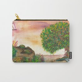 Countryside Watercolor Illustration Carry-All Pouch