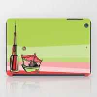 wiz khalifa iPad Cases featuring Abra by the Burj Khalifa by Dubai Doodles