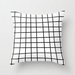 Spoiled Grid Throw Pillow