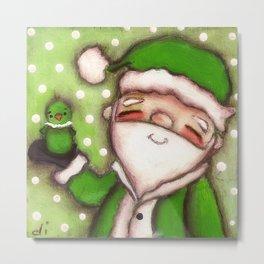Green Santa - by Diane Duda Metal Print