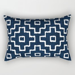 Blue Geometric Pattern Rectangular Pillow