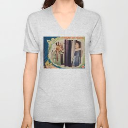 The Haunted House, vintage horror movie poster 1928 Unisex V-Neck
