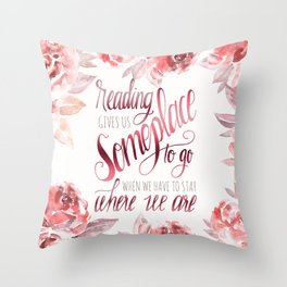 READING GIVES US Throw Pillow