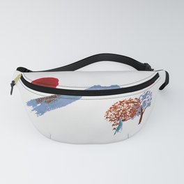 Mountain trees watercolor Fanny Pack