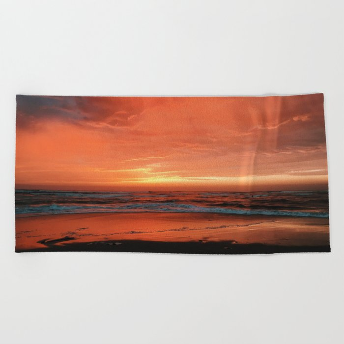 Ocean Waves #sunset Beach Towel